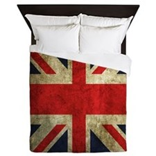 Grunge Uk Flag Queen Duvet
