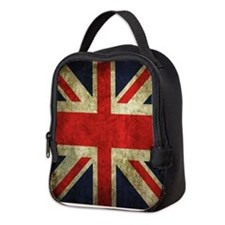 Grunge Uk Flag Neoprene Lunch Bag