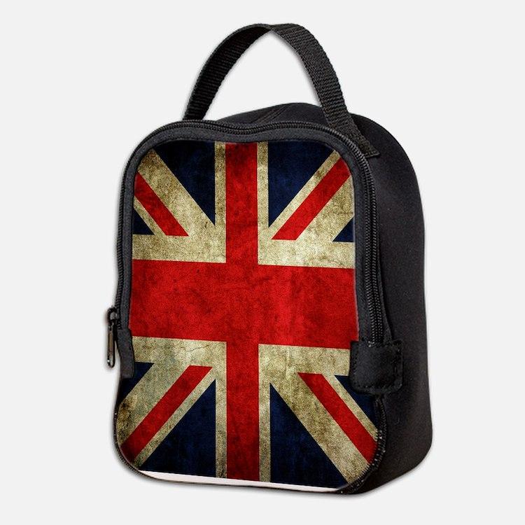 Grunge Uk Flag Neoprene Lunch Bag