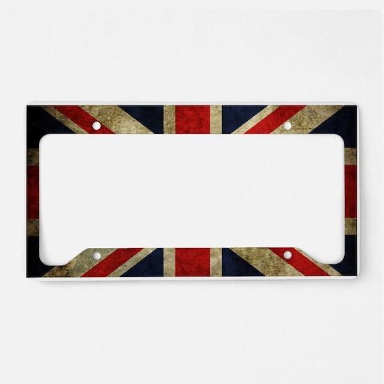 Grunge Uk Flag License Plate Holder