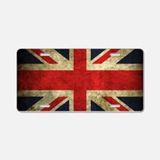 Grunge Uk Flag Aluminum License Plate