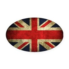 Grunge Uk Flag Oval Car Magnet