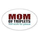 Triplets mom of peace Sticker