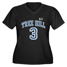 Unique Tree hill 23 Women's Plus Size V-Neck Dark T-Shirt