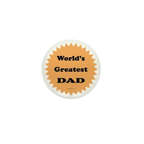 World's Greatest DAD (orange) Mini Button