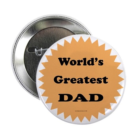 World's Greatest DAD (orange) Button