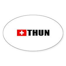 Thun, Switzerland Oval Decal