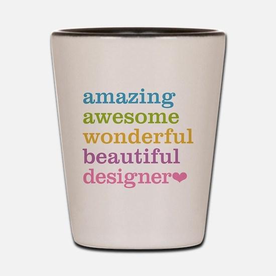 Cute Graphic designer Shot Glass