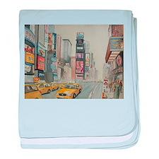 Cute New york broadway baby blanket