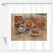 Cute Breakfast Shower Curtain