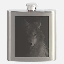 Cute Lone wolf Flask