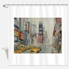 Unique New york taxi cab Shower Curtain