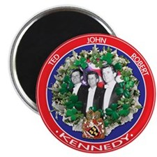 The Kennedy Brothers: Ted, John, Robert Magnets
