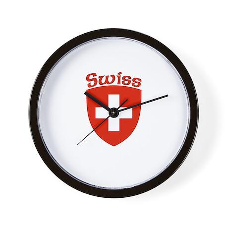 Swiss Coat Of Arms Wall Clock By Eurosaurus
