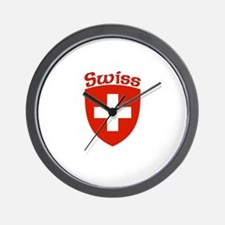 Swiss Coat of Arms Wall Clock