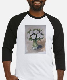White flowers Baseball Jersey