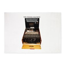 the enigma machine 5'x7'Area Rug
