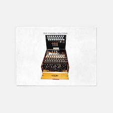 the enigma machine 5'x7'Area Rug