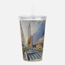 Cute New york streets Acrylic Double-wall Tumbler