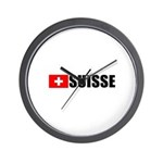 Suisse Flag Wall Clock
