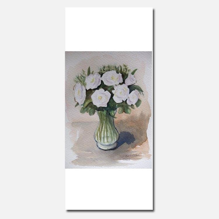 White flowers Invitations