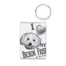 I Love My Bichon Frise Old Keychains