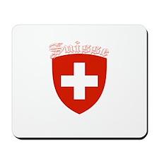 Suisse Coat of Arms (Dark) Mousepad
