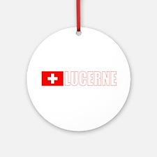 Lucerne, Switzerland Ornament (Round)