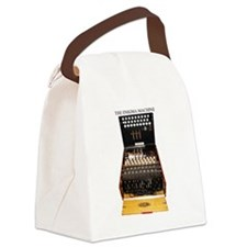 the enigma machine Canvas Lunch Bag
