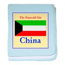 China, the emerald isle baby blanket
