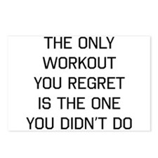 The only workout you regret Postcards (Package of