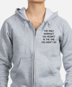 The only workout you regret Zip Hoodie
