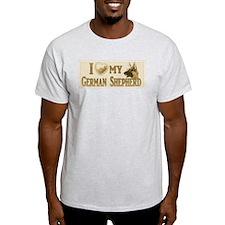 Old Timey German Shepherd T-Shirt