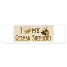 Old Timey German Shepherd Bumper Bumper Sticker