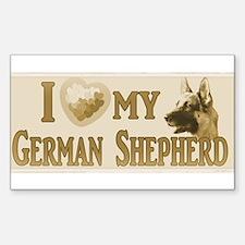 Old Timey German Shepherd Decal