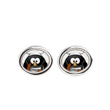 Unique Grilling Oval Cufflinks