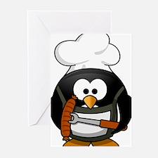 Penguin-Cartoon 017 Greeting Cards