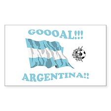 Goal Argentina Rectangle Decal