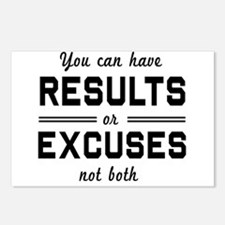 Results or excuses not both Postcards (Package of