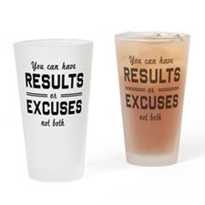 Results or excuses not both Drinking Glass