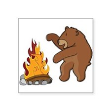 Camp Fire Bear Sticker