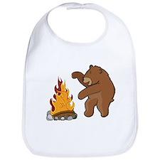 Camp Fire Bear Bib