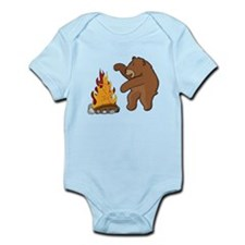 Camp Fire Bear Body Suit