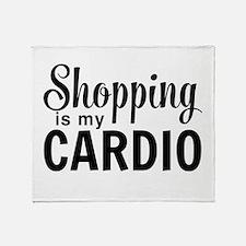 Shopping is my cardio Throw Blanket