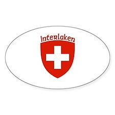 Interlaken, Switzerland Oval Decal