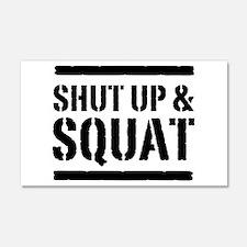 Shut up & squat 2 Wall Decal