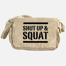 Shut up & squat 2 Messenger Bag