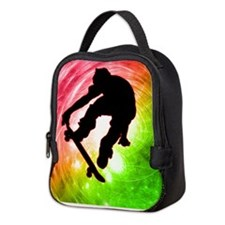 Cute Skateboard Neoprene Lunch Bag