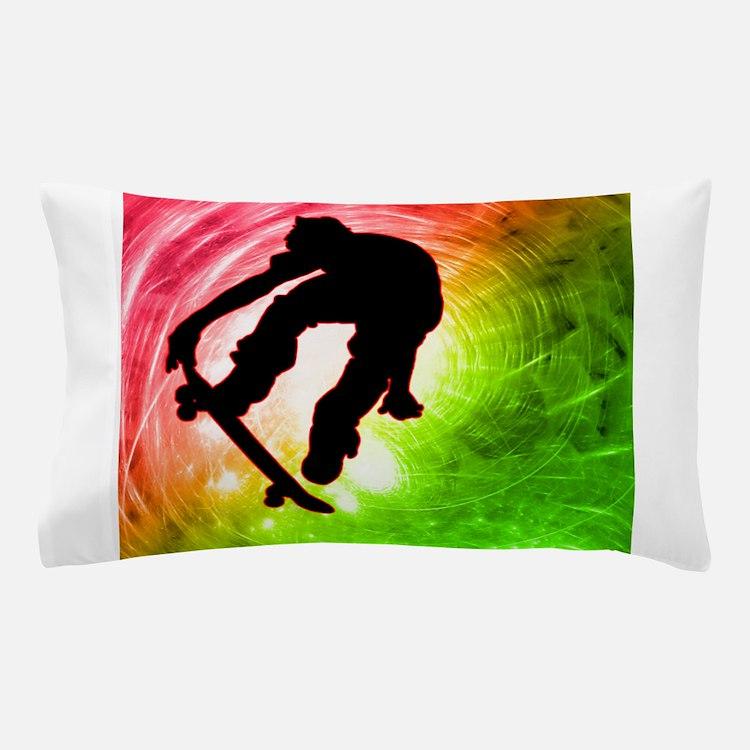 Cute Skate board Pillow Case