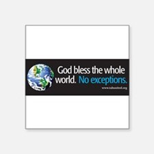"Cute Religious liberal Square Sticker 3"" x 3"""